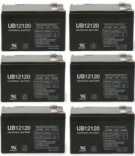 Sealed Lead Acid battery for APC SC620 12V 12Ah   6 Pack: Electronics