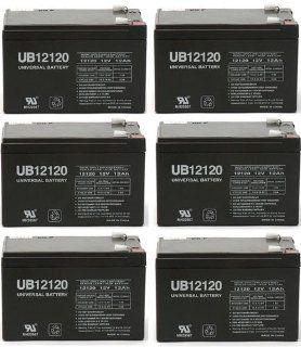 Sealed Lead Acid battery for APC SC620 12V 12Ah   6 Pack: Electronics