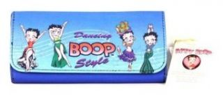 New Betty Boop Dancing BOOP Style Tri Fold Checkbook Wallet   Blue at  Women�s Clothing store