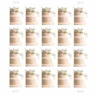 Wedding Cake Sheet of 20 x 66 cent U.S. Postage Stamps