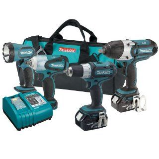 Makita LXT421 18 Volt LXT Lithium Ion 4 Piece Combo Kit   Power Tool Combo Packs