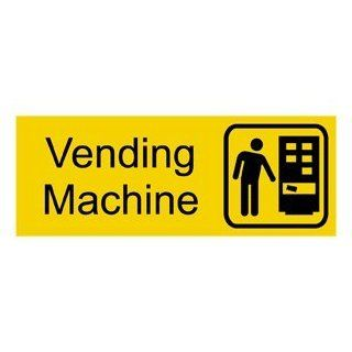 Vending Machine With Symbol Engraved Sign EGRE 630 SYM BLKonYLW  Business And Store Signs