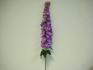 "2 PURPLE Delphinium Stems Artificial Silk Flowers 44"" Sprays"