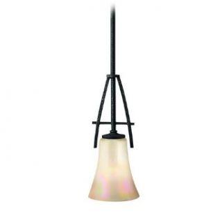 Mini Pendant Light with Iridescent Glass   Ceiling Pendant Fixtures
