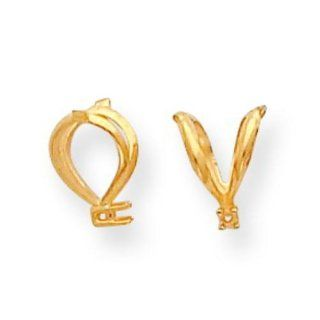 14K Gold Rabbit Ear Bail