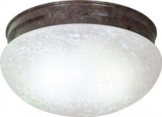 Nuvo SF76/676 Large Old Bronze Mushroom with Alabaster Glass   Close To Ceiling Light Fixtures