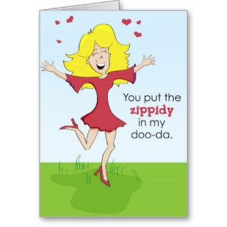 Funny love or Valentine's Day Greeting Card