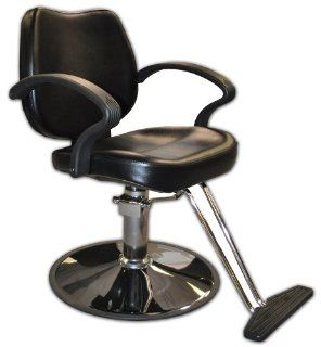 Styling Chair with Round Base, Beauty, Hair Salon, Equipment,: Beauty