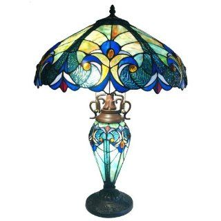Chloe Lighting CH18A681DT 3 Light Victorian Double Lit Table Lamp   Tiffany Lamps