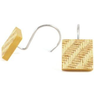 Decorative Basket Weave Leoni Shower Hooks, 12 Piece Set   Shower Curtain Decorative Hooks