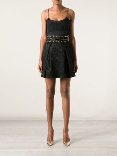Elisabetta Franchi Pleated Lace Skirt