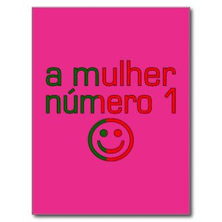 A Mulher Número 1   Number 1 Wife in Portuguese Post Card