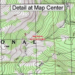 USGS Topographic Quadrangle Map   Half Dome, California (Folded/Waterproof)  Outdoor Recreation Topographic Maps  Sports & Outdoors
