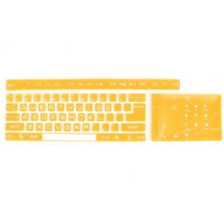 Silicone Orange Yellow Full size Desktop Keyboard Film 45cm x 13.5cm: Computers & Accessories