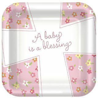 Blessed Baby Girl Lunch Plates 8ct Toys & Games