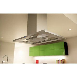 Zephyr ZMD M90AS 715 CFM 36 Inch Wide Island Range Hood with DCBL Suppression System, Bloom HD LE, Stainless Steel: Appliances