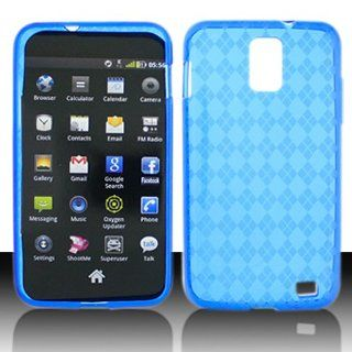 Transparent Clear Blue Flex Cover Case for Samsung Galaxy S2 S II AT&T i727 SGH I727 Skyrocket: Cell Phones & Accessories