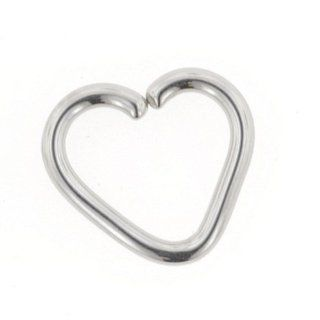 "Stainless Steel Continuous Heart Shaped Ring: 16g 5/16"": Inc. LeRoi: Jewelry"