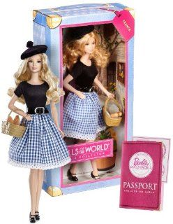 """Barbie France ~11.5"""" Doll Pink Label Dolls of the World Barbie Collector Series Toys & Games"""