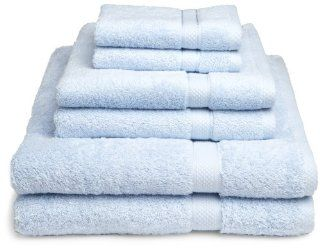 Pike Street 100 Percent Egyptian Cotton 725 Gram 6 Piece Towel Set, Sea Blue