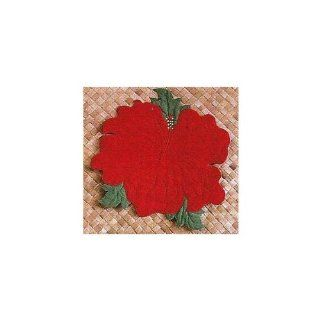 Hawaii Placemat Fabric Cut Out Hibiscus Red   Place Mats