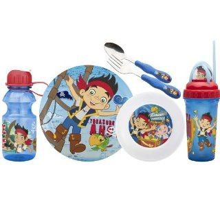 Zak Designs Disney 6 Piece Kids Mealtime Set, Jake and The Never Land Pirates: Kitchen & Dining
