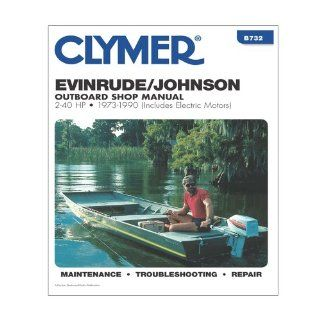 CLYMER B732 / Clymer Evinrude/Johnson 2 40 HP Outboards (Includes Electric Motors) 1973 1990: Computers & Accessories