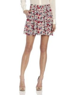 BCBGeneration Women's Pleated Skirt, Bright Red Multi, 0 at  Women�s Clothing store
