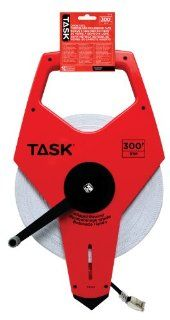 Task Tools TS742 300 Feet Open Reel Fiberglass Tape Measure with 3X Gear Drive