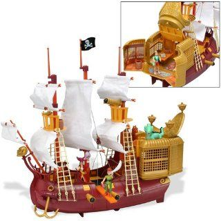 Peter Pan Pirates Heroes   Jolly Roger Pirate Galleon: Toys & Games