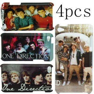 "4 X 1D One Direction Hard Case Cover Skins For Apple Ipod Touch 4 itouch4 (Back case) (Package includes: 2 X Screen Protector and 1X Stylus Pen image""catgift_store""): Cell Phones & Accessories"