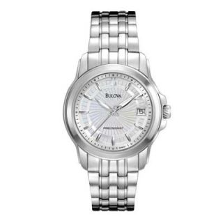 Ladies Bulova Precisionist Watch with Silver Dial (Model: 96M121