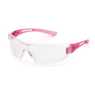 ladies Elvex Sync Uni sex anti fog Safety Glasses   Clear AF Lens Pink Temples SG 19C AF : Hunting Safety Glasses : Sports & Outdoors