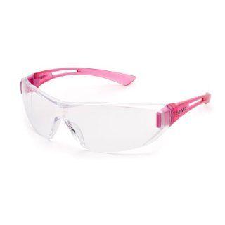 ladies Elvex Sync Uni sex anti fog Safety Glasses   Clear AF Lens Pink Temples SG 19C AF : Hunting Safety Glasses : Sports & Outdoors