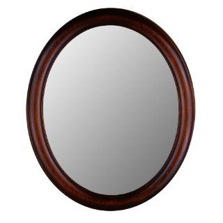 Oval Decorative Wall Mirror with Mahogany Finish Wood Frame   770 Series (24 in. x 28 in.)   Wall Mounted Mirrors