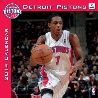 2014 Detroit Pistons Wall Calendar