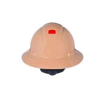 3M Full Brim Hard Hat H 811R UV, 4 Point Ratchet Suspension, Uvicator, Tan Hardhats Industrial & Scientific