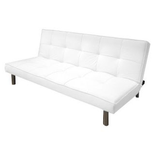 Convertible Sofa: Urban Shop Memory Foam + Microsuede Sofa Bed   White