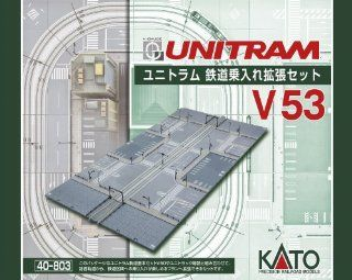 Kato N Scale Unitram/Unitrack V53 Straight Street Track to Concrete Tie Double Track Expansion Set With Track, Street Sections & Street Items KA 40 803: Toys & Games