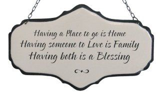 """Shop America Retold White Enamel Sign, Having A Place to Go, 5.5"""" x 9"""" at the  Home D�cor Store. Find the latest styles with the lowest prices from America Retold"""