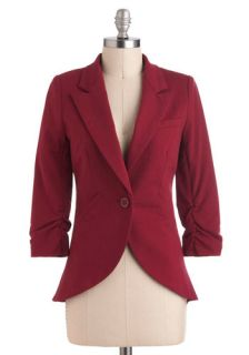Fine and Sandy Blazer in Burgundy  Mod Retro Vintage Jackets