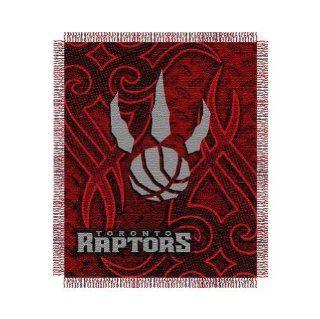 NBA Triple Woven Jacquard Throw NBA Team Toronto Raptors   Sports Fan Throw Blankets