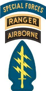 "United States Army Special Forces Airborne Ranger Tab Decal Sticker 5.5"": Automotive"