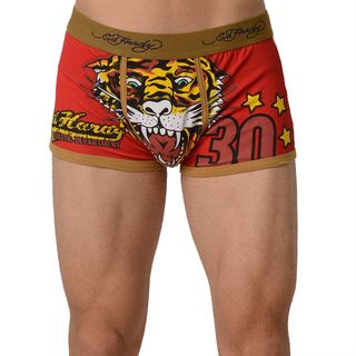 Ed Hardy Mens Tiger Vintage Tan Trunk Underwear