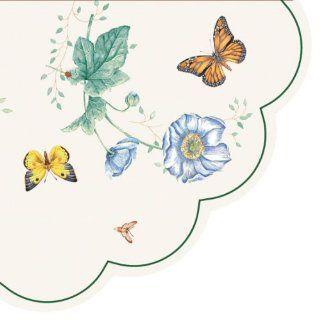Lenox Butterfly Meadow 3 Ply Rondo Paper Napkins, Monarch, Pack of 12: Kitchen & Dining