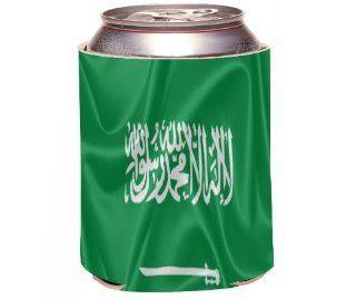 Rikki KnightTM Saudi Arabia Flag Design Drinks Cooler Neoprene Koozie Kitchen & Dining
