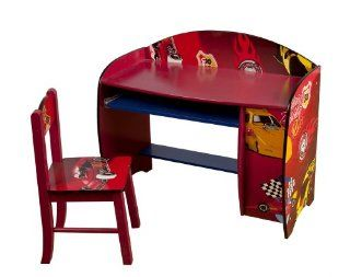 4Gr8 Kidz Racing Series Kids Wooden Computer Desk with Chair: Toys & Games