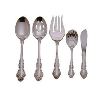 Reed & Barton Sterling Silver Flatware Spanish Baroque 5 Piece Hostess Set: Kitchen & Dining
