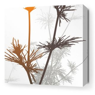 Inhabit Morning Glory Prairie Stretched Graphic Art on Canvas in Rust and Cha