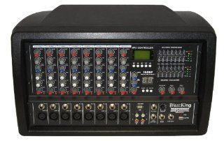 Blast King I78BPOD850 8 Channel Powered Mixer 2x200 Watt with Built In MPs/SD/USBN Musical Instruments